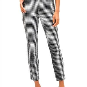 Skinny Gingham Trousers